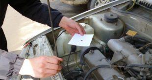 капельный тест моторного масла на бумаге