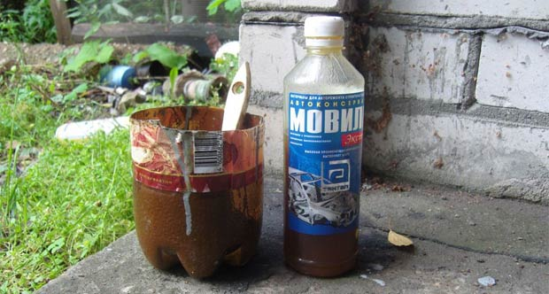 movil - Чем разбавить мовиль для обработки кузова