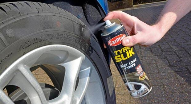 чернение автомобильной резины